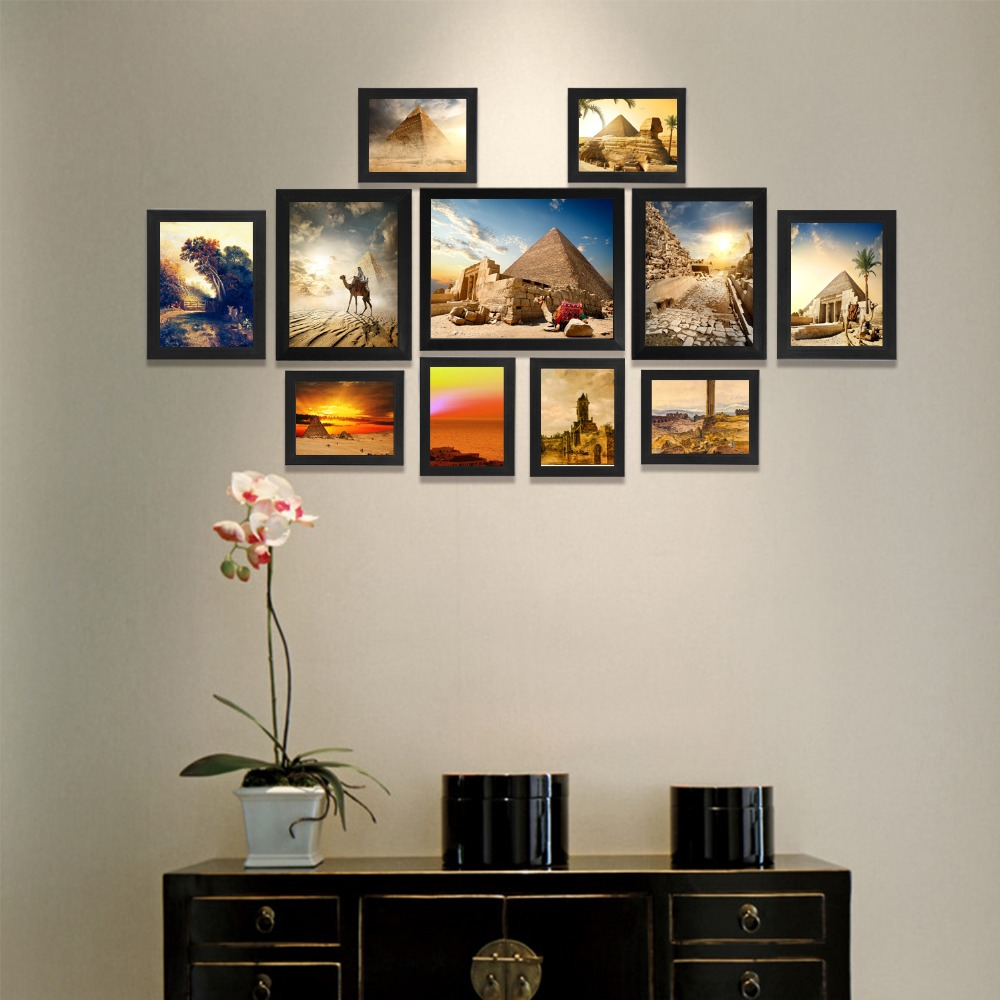 . US  45 98  Giftgarden Photo Frame Black Picture Frames For Living Room  Frames For Picture and Posters  Set of 11 PVC Covering Front in Frame from  Home