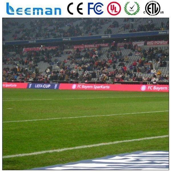 Leemanled novos produtos china mercado perímetro publicidade ao ar livre p16 full color p10 arena de esportes displays de led de futebol outdoor