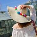 1 шт. 2016 новый прекрасный цвет взрослых вс шляпа весна лето открытый соломенные шляпы для женщин 4 цветов 55 - 58 см