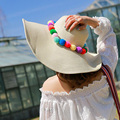1 Pcs 2016 New Lovely Color Ball Adult Sun Hat Spring Summer Outdoor Straw hats For Women 4 Colors 55-58cm