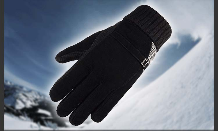 GLV933B Men s leather winter warm font b gloves b font skiing outdoor ride bicycles anti