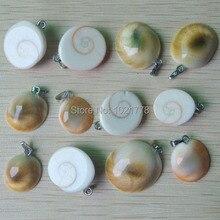 2017 trendy Natuurlijke Shell steen Slak vorm bedels hangers voor sieraden Accessoires maken 24 stks/partij Groothandel gratis verzending