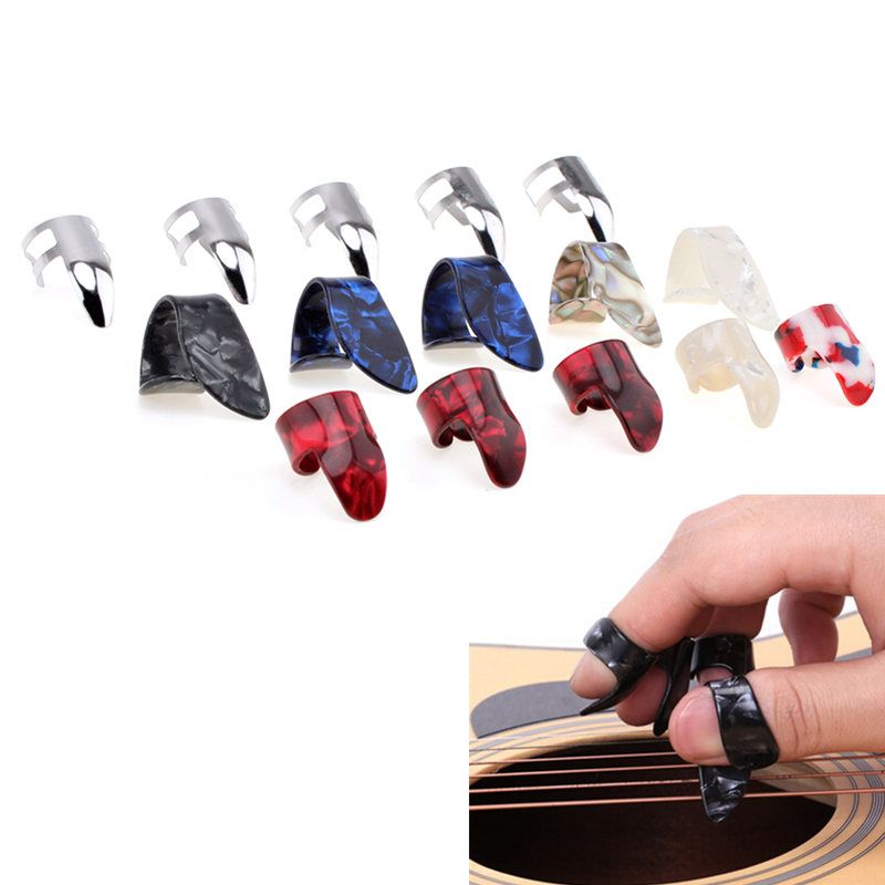 15pcs! Stretchy Celluloid Steel Nail Plectrums Guitar Thumb Finger Picks Musical Instruments Parts Accessories for Guitar Lovers