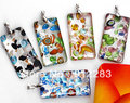 Free shipping 20 pcs silver plated Foil Lampwork Glass Murano 48x25mm Pendants CHIC