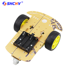 Promo offer DIY Smart Robot Car Chassis Acrylic Board Speed Encoder Battery Box Tires Gearmotor for Arduino Raspberry Pi 3 Learning