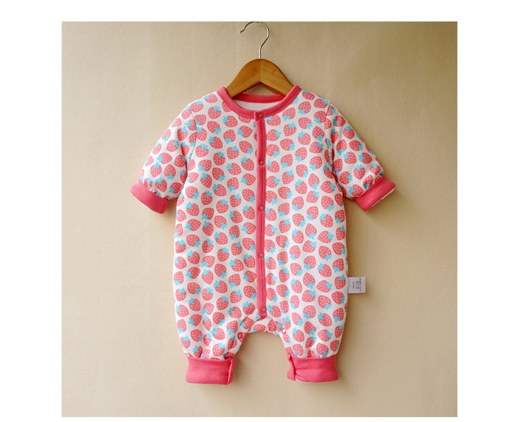 39ba2bda677b1 US $33.8 |Aliexpress.com : Buy 6 24M Warm Winter clothes cotton padded baby  girl clothes newborn one piece ropa onesie toddlers Costume baby rompers ...