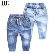 ОН Привет Наслаждайтесь Девочек джинсы брюки Осень 2016 детская одежда джинсы синие брюки повседневные брюки Детские Брюки