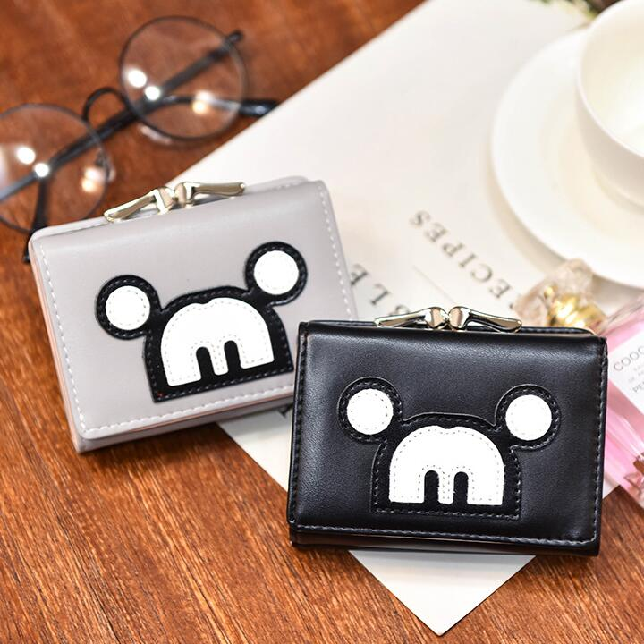 2017 new creative fashion cartoon wallet High quality PU leather Women bag Stitching Mickey Girls Girls Mini Dolls Coin Purse creative mini stapler free stitching needle black