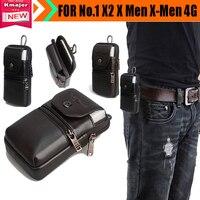 Carry case bolsa de cinturón de clip monedero de la cintura de cuero genuino cubierta para 1X2 X Men X-men 4G Teléfono Envío de Caída Libre