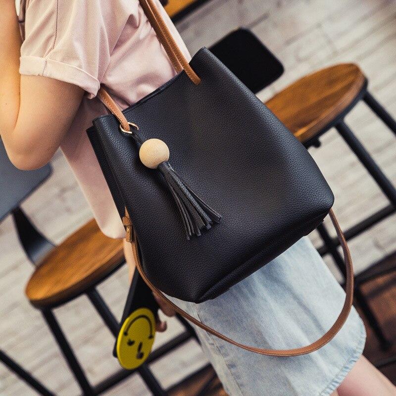 2016 Designer Women Leather Bucket Shoulder Bags Ladies Cross Body Bags Large Capacity  casual totes women Shopping Bag Bolsa