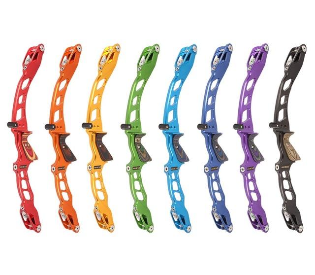 Pro Plus Miracle X10 High-End Recurve Bow Riser 25″, CNC Target ILF Riser, Wood Grip