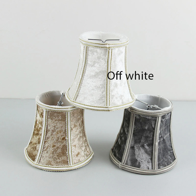 Light Diy High Quality White Brown Gray 3 Color Flannel Lampshades Glass Chandelier Lamp Shades