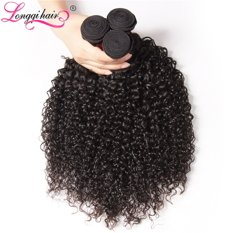 Longqi Hair Cambodian Curly Hair 3 Bundle Deals Natural Color Remy Hair Extensions 8 26 Inches 100g/pc Free Shipping-in 3/4 Bundles from Hair Extensions & Wigs    3