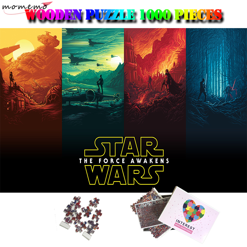 MOMEMO Star Wars Puzzle 1000 Pieces Classic Movie Customized Adults Personality High Definition Wooden 1000 Piece Puzzle Toys