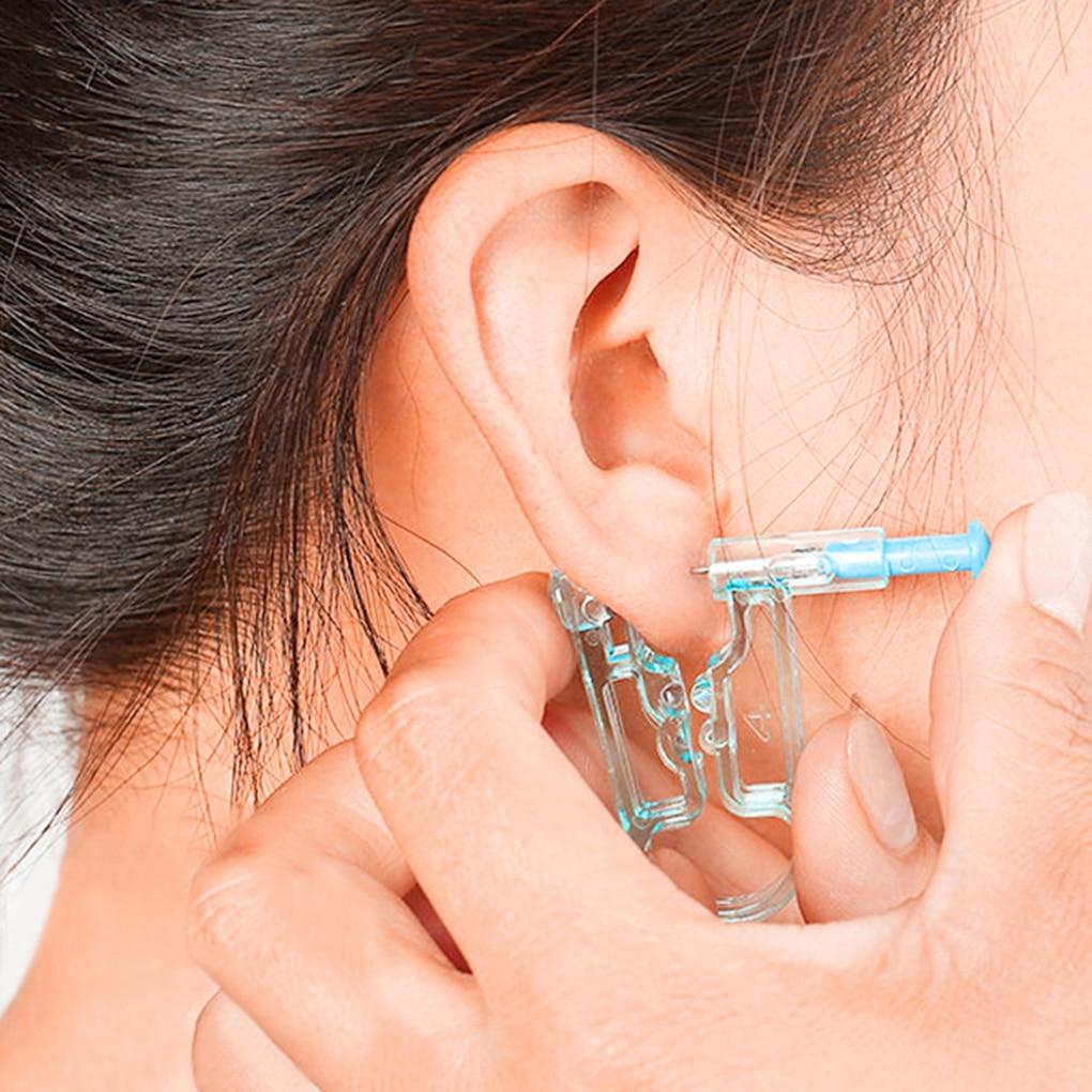 NianLenssDisposable Self Ear Piercing Device Safety Health Unit Tool Ear Stud Asepsis Pierce Kit
