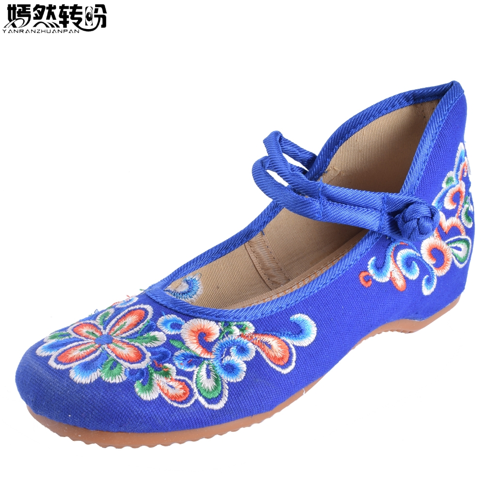 Women Flats Canvas Casual Shoes Embroidery National Casual Floral Embroidered Travel Shoes Ballet Flats Sapato Feminino Bordado vintage embroidery women flats chinese floral canvas embroidered shoes national old beijing cloth single dance soft flats