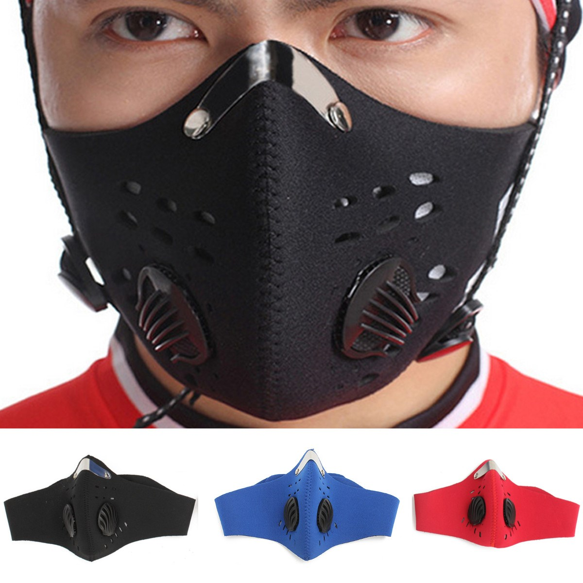 Image 5 - Bike Bicycle Riding Activated Carbon Windproof PM2.5 Gas  Protection Filter Respirator Anti Dust Mask Head High Qualityhead  headhead maskhead protection
