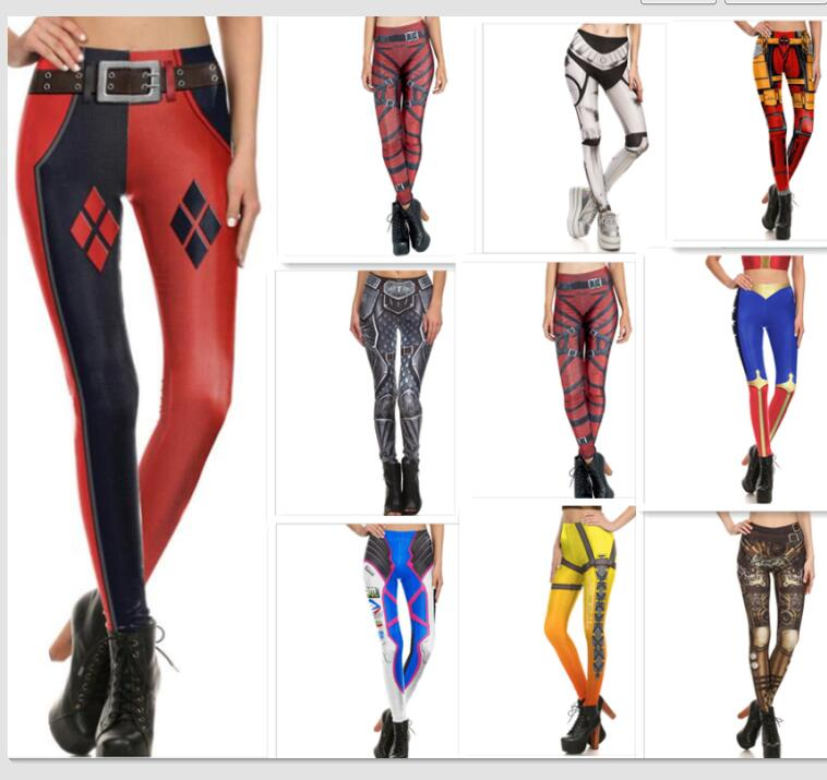Widowmaker cosplay Women  3D Printed leggings Super HERO Deadpool Leggins Printed legging for Woman pants