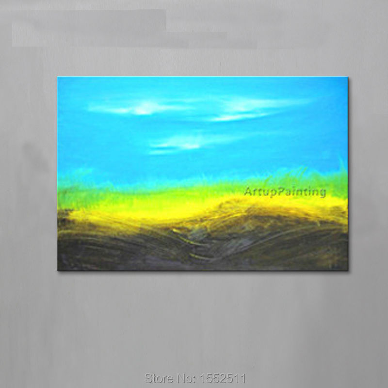 Wind Acrylic Paint Home Decoration Oil Painting on canvas hight Quality Hand-painted Wall Art 24X48 inch ,36X72
