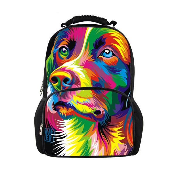 Large Animals Backpack Cute Dog Printing Men's Backpack Boys School Backpack for Teenagers Children OutdoorTravel Bag Mochila 3d car styling children school bags for teenagers boys kids cartoon backpack book bag large capacity mochila escolar