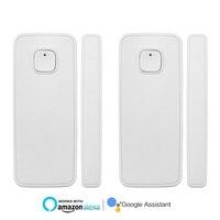 2pcs Smart Home Security Wireless Door Alarm Smart House Window Door Sensor Works With Alexa Google Home IFTTT Smart Life Tuya