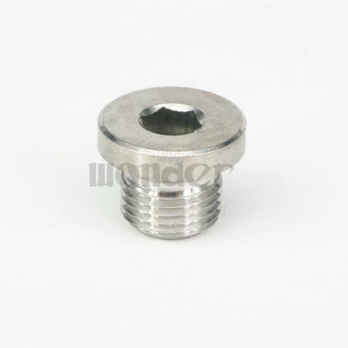 """1//8/"""" BSP Male 304 Stainless Steel Pipe Countersunk Plug Internal hex head socket"""