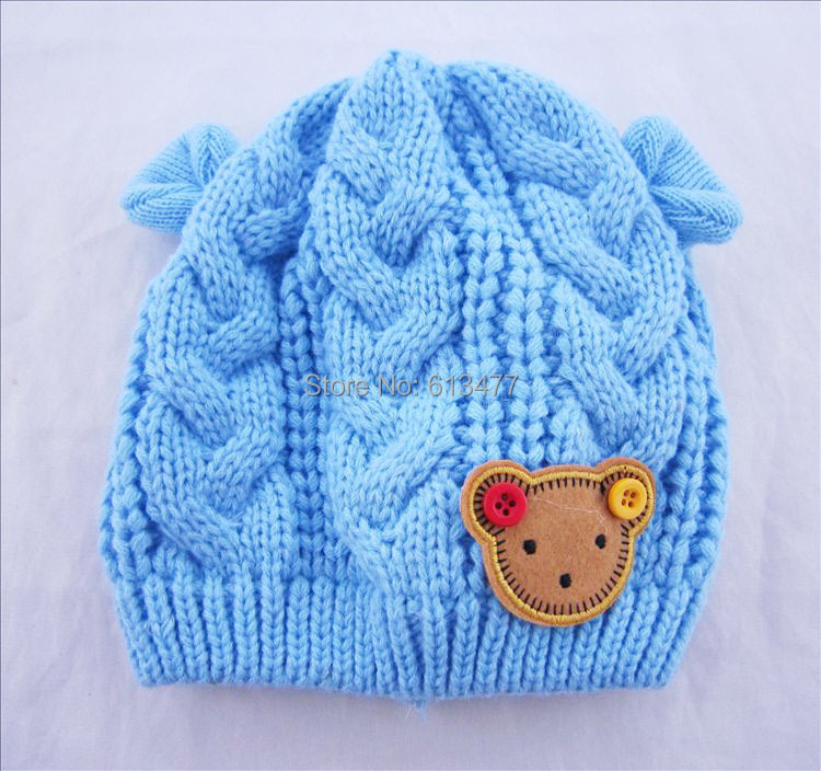 Winter  Keep Warm Knitted Hats For Boy/girl/kits Hats Set,scarves, Bug/bee  Infants Caps Beanine For Chilld 2pcs/lot MC02