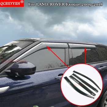 QCBXYYXH Car-Styling For LAND-ROVER Exoque 2009-2018 Auto Awnings Shelters Window Sun Rain Shield Rainproof Decoration Stickers