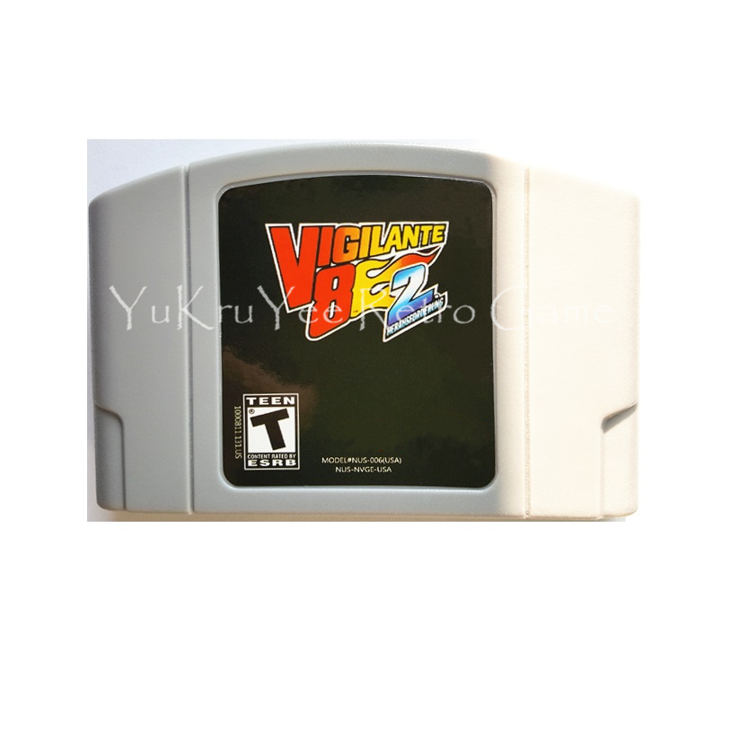 Vigilante 8 VS 2nd Offense Video Game Accessories Memory Cartridge Card for 64 Bit Console US NTSC Version N88