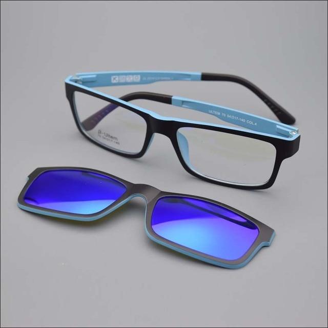 667b76e58e Ultra-light Glasses Magnet Clip Sunglasses Myopia Glasses Polarized  Sunglasses Functional 3D Glasses Ultem Uv