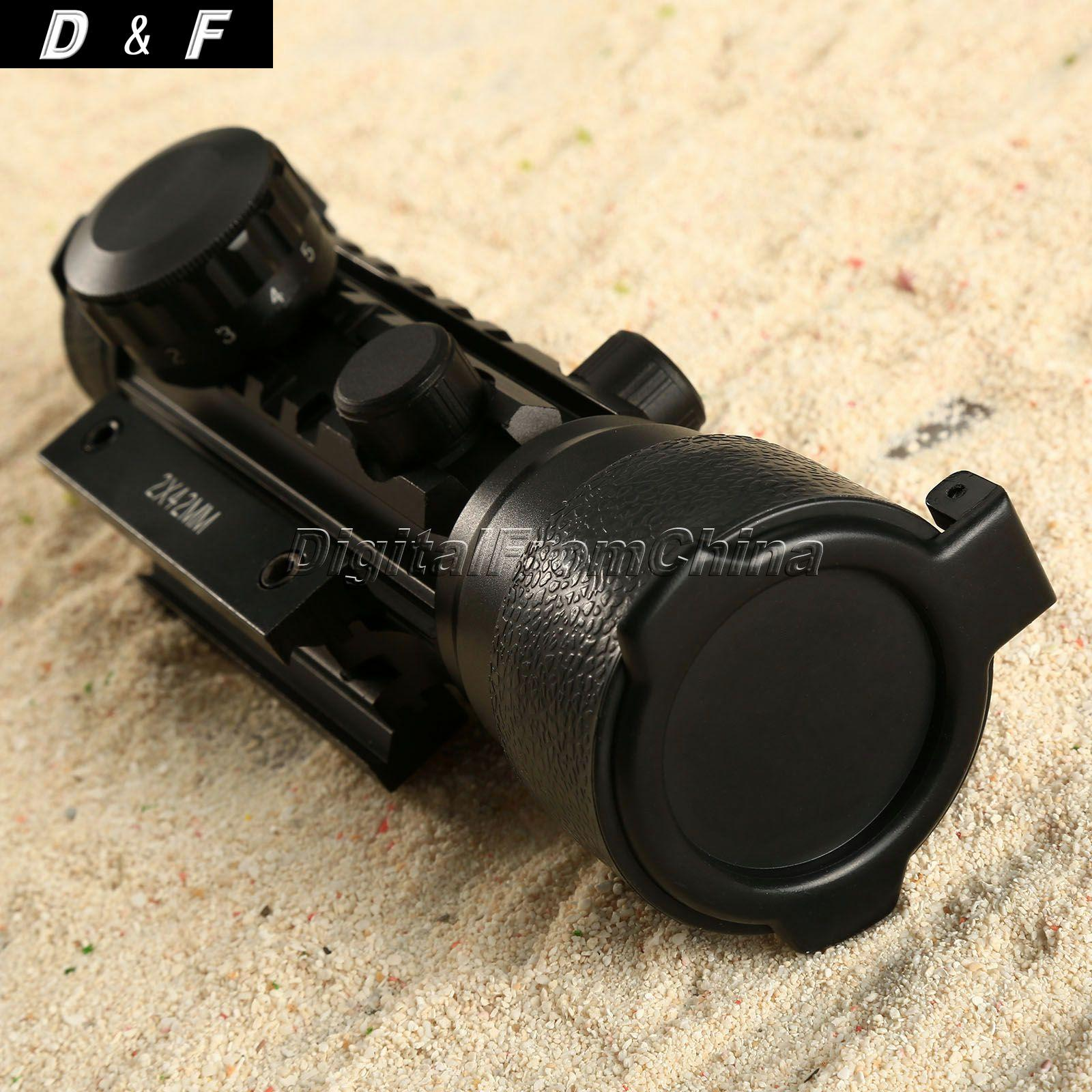 New Arrival 2x42 Red Green Dot Scope Sight 20mm Weaver Mount Rail F Rifle For Hunting accu new quick release heighten mount for 20mm rifle weaver rails black