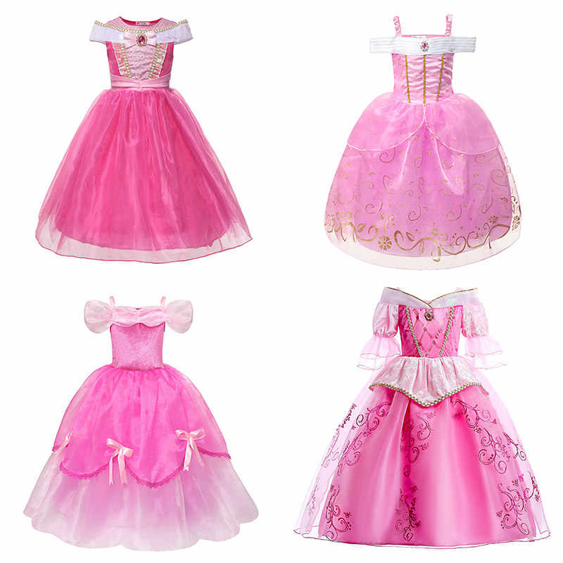 Children Carnival Sleeping Beauty Costume Kid Fancy Princess Aurora Cosplay Girl
