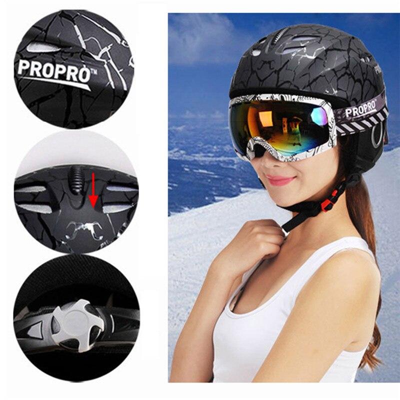 Casque de Ski de marque PROPRO intégral-casques de Snowboard moulés enfants adultes patinage Skateboard casque de Ski M L SHM-001 630g