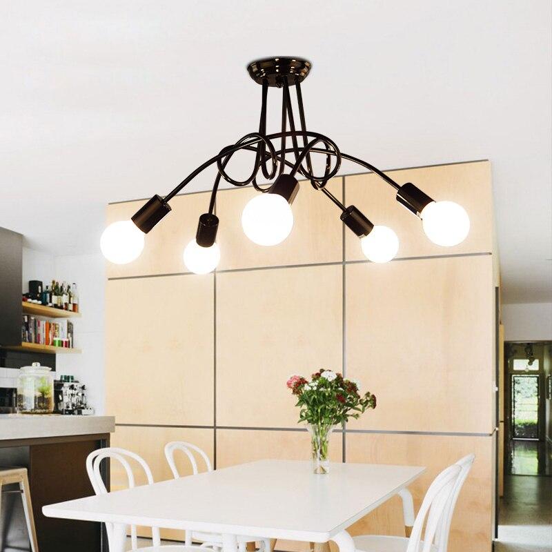 Modern Creative Iron Ceiling Lamp LED E27 Lighting Japanese Korean Style Living Room Bedroom Lamp Simple Nordic Indoor Lamp цена
