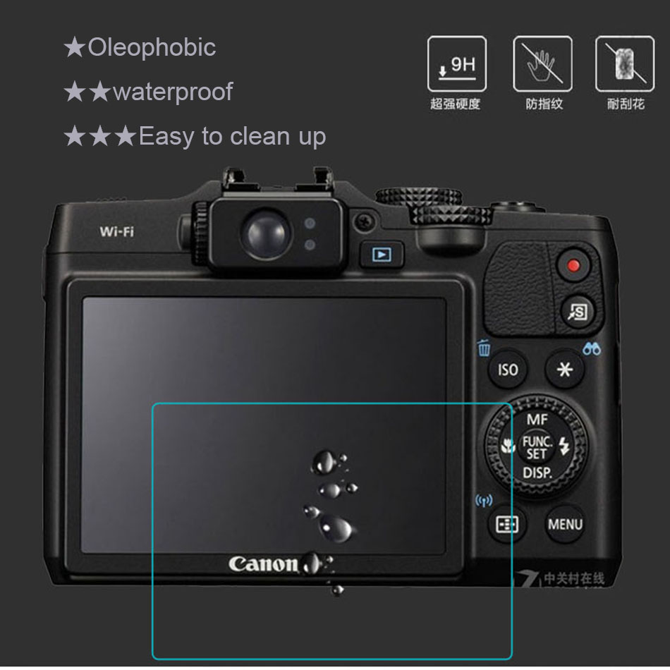 LCD Premium Tempered Glass Screen Protector for Sony RX100 V / M5 / RX100M5 / RX100V 3 INCH Camera LCD Protector RX100M5 RX100V
