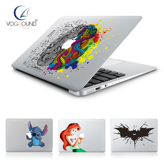 Hot stitch batman snow white brain vinyl decal laptop sticker for apple macbook pro air 13
