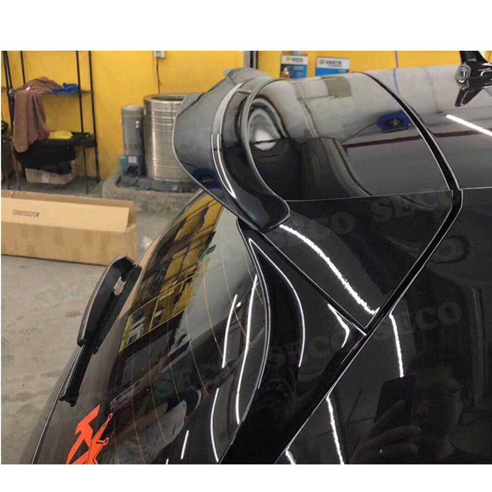 Ailes de fenêtre arrière en Fiber de carbone/ABS pour Volkswagen VW Golf 7 7.5 VII MK7 MK7.5 becquet GTI R Rline 2014-2019