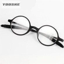 YOOSKE очки для чтения, женские и мужские круглые очки без оправы, очки для пресбиопии, женские и мужские круглые очки для чтения