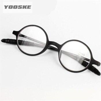 e0ed3b81c0 Gafas de lectura YOOSKE para hombre, gafas redondas sin montura, gafas de  lectura redondas para hombre y mujer