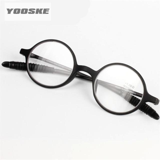 YOOSKE Reading Glasses Women Men Round Rimless Spectacles Presbyopia Female Male Round Reading Glasses