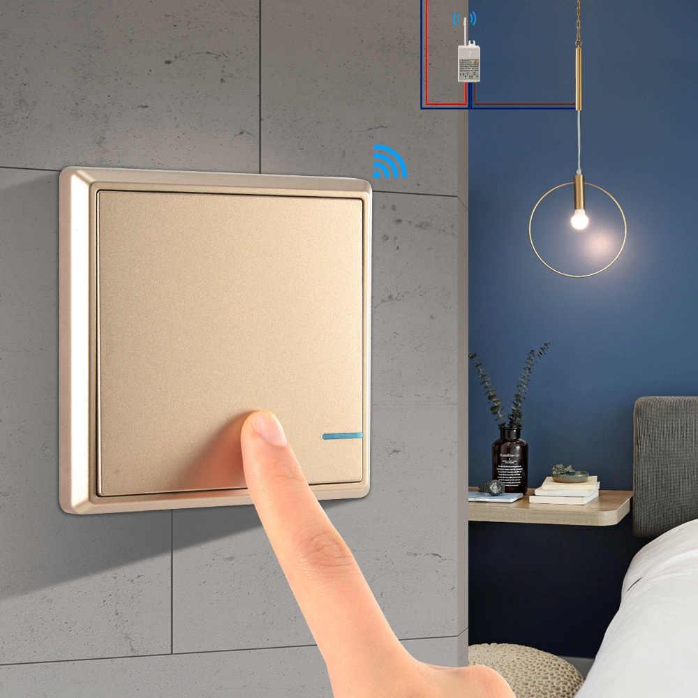Комплект для спальни беспроводной переключатель и приемник комплект водостойкий ВКЛ/ВЫКЛ Выключатель света выключатели Потолочный с дистанционным управлением лампы светодиодный лампы