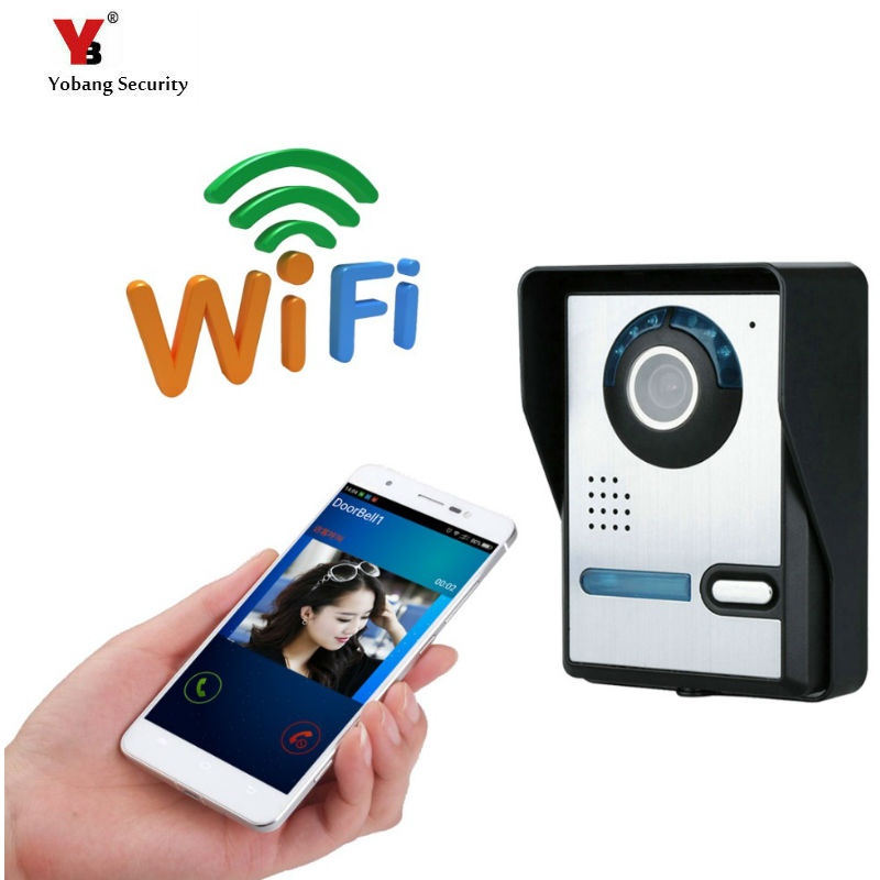 Yobang Security Freeship WIFI Wireless Video Doorphone Camera Wide Angle Motion Detection Alarm WIFI Doorbell for IOS Android