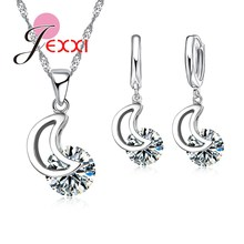 Jemmin Fashion Necklace Earring Jewelry Sets For Women 925 Sterling Silver Wedding Bridal Jewellery Set Engagement
