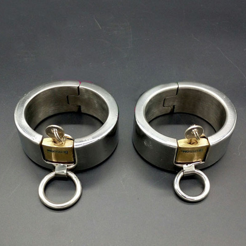 handcuffs for sex bondage metal hand cuffs bdsm fetish wrist restraints stainless steel products games erotic toys for adults stainless steel metal hand cuffs bdsm fetish wear bondage restraints handcuffs for sex erotic toys adult game sex toys for women