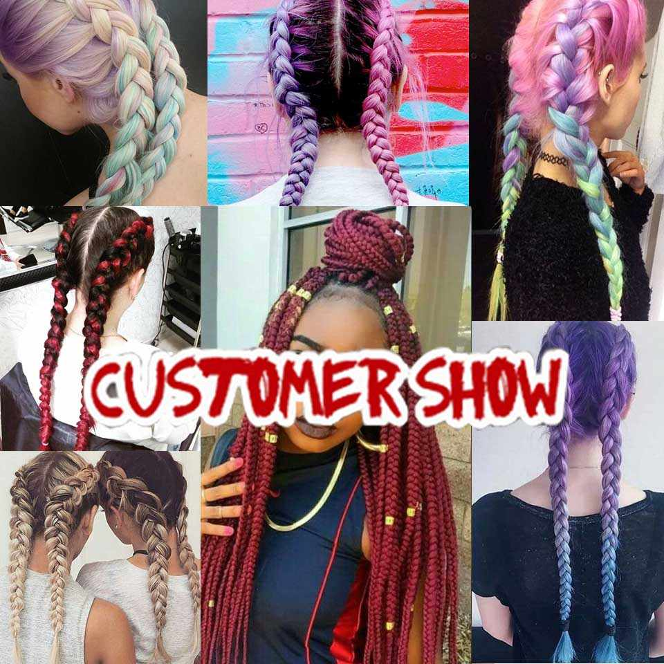 Xtrend Ombre канекалон плетения волос 24 inch синтетические Jumbo косами крючком волос для Для женщин фиолетовый Бордовый зеленый