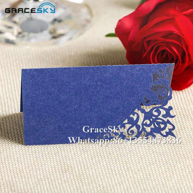 50pcs Lot Laser Cutting Lace Vine Design Table Name Place Seat Cards Paper Wedding Invitation