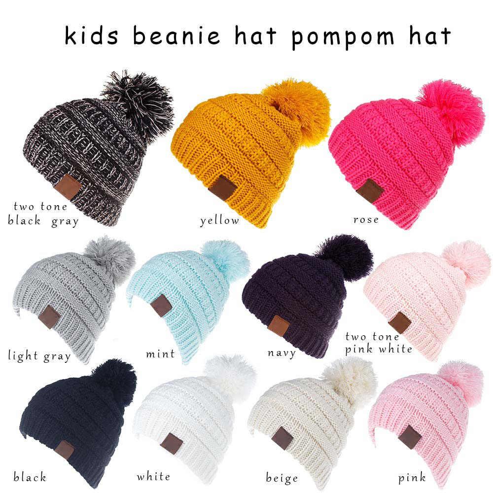 952911ee81b ... XDOMI 2-6 Years Children Knitted Pom Pom Hat For Baby Boys Girls Beanies  Caps