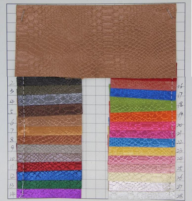 Arts,crafts & Sewing Wholesale Pu Leather Metal Snake Skin Leather Fabric Leather