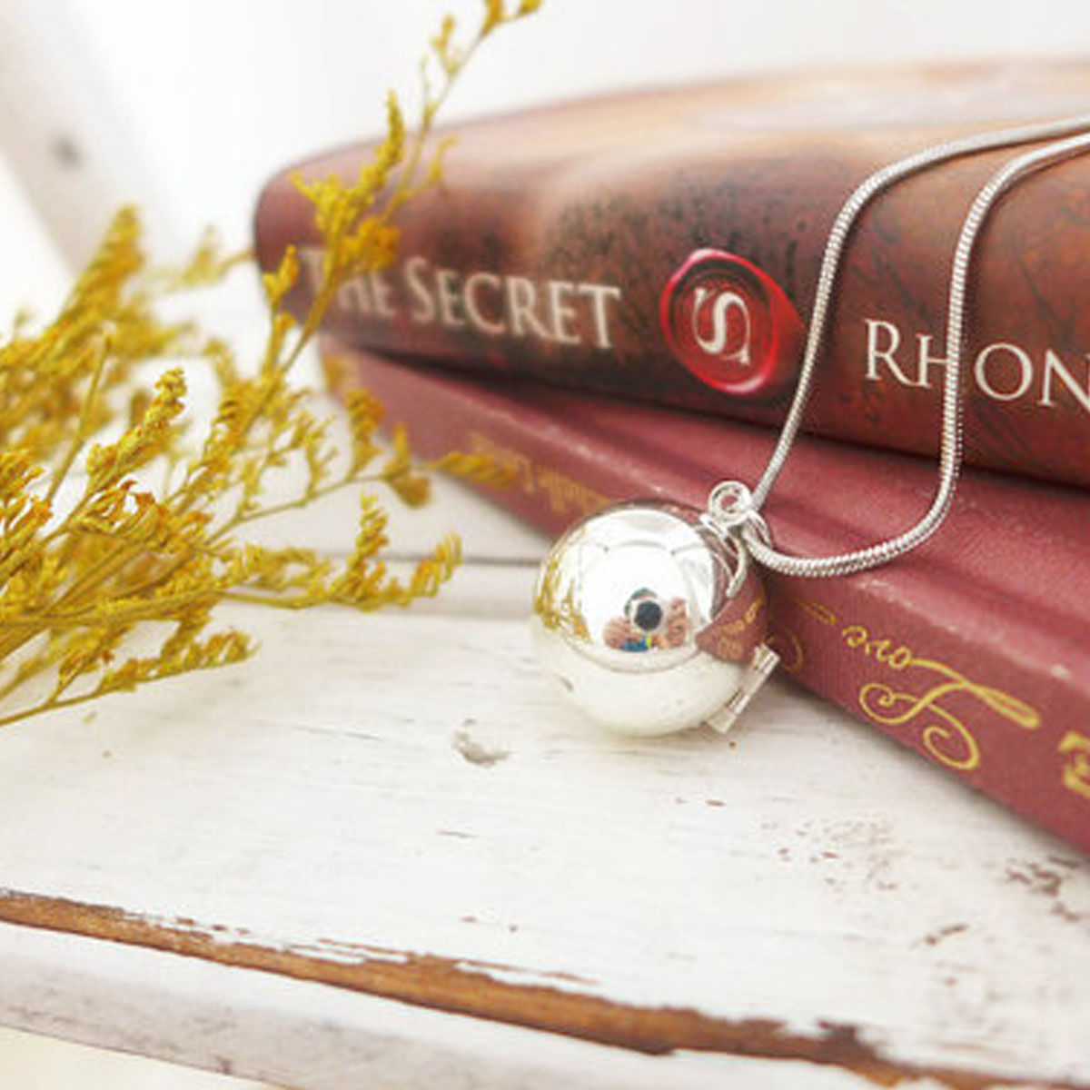 candidate com ball original wren lockets shiny by necklace notonthehighstreet secret rachel note silver product locket