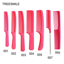 цена на Full Set of Professional Red Ultra-thin Haircut Plastic Flat Head Comb Male Hair Comb Double-sided Hair Brush Tip Tail Comb D50